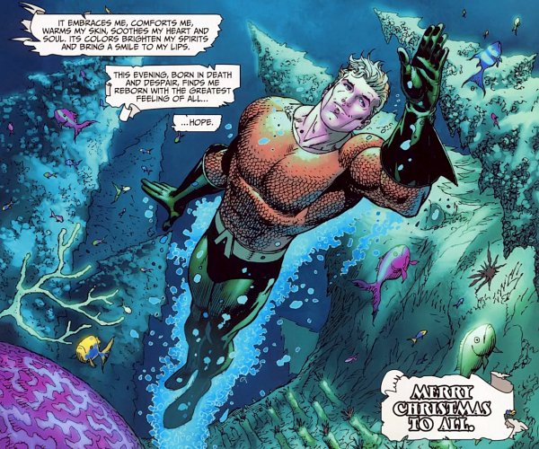 Aquaman Christmas Greetings