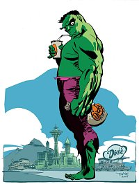 Hulk at Dick's Drive-in
