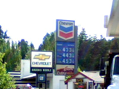 June 12th 2008 Fuel Costs Bothell