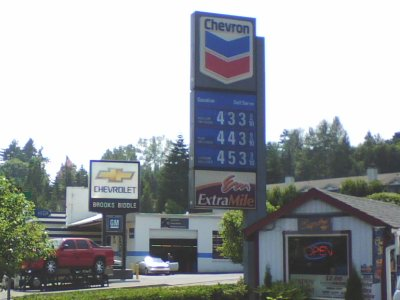 July 1st 2008 Fuel Costs Bothell