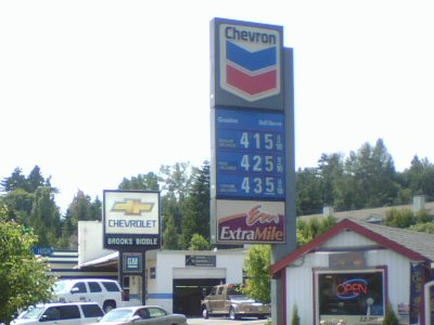 Fuel Cost in Bothell July 25th
