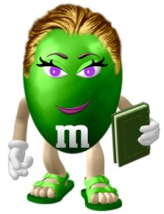 Laura as M&M