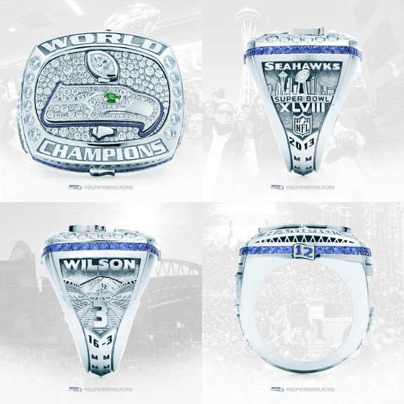 Seattle Seahawks 2013 Super Bowl Rings