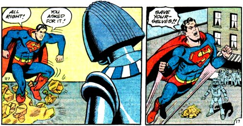 Superman loses his temper