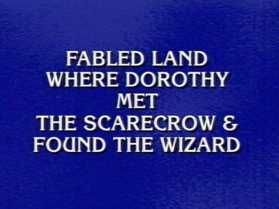 Jeopardy Oz Clue