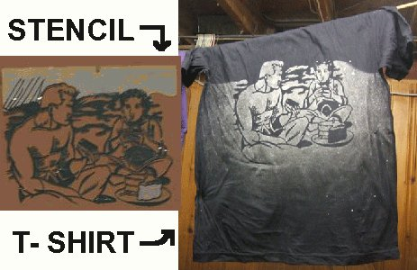 Stencil and T-Shirt